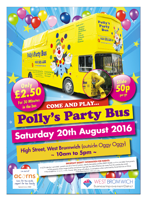 **CANCELLED** Party Bus in West Bromwich Town Centre