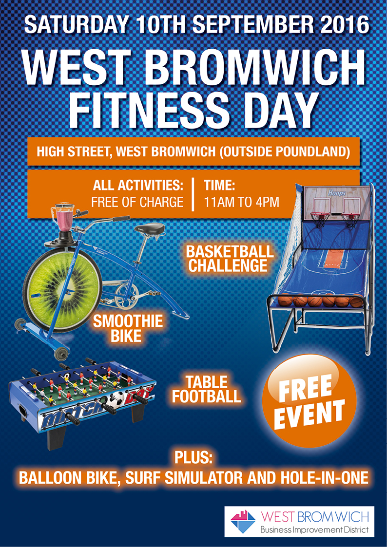 Dont miss Event today – West Bromwich Fitness Day