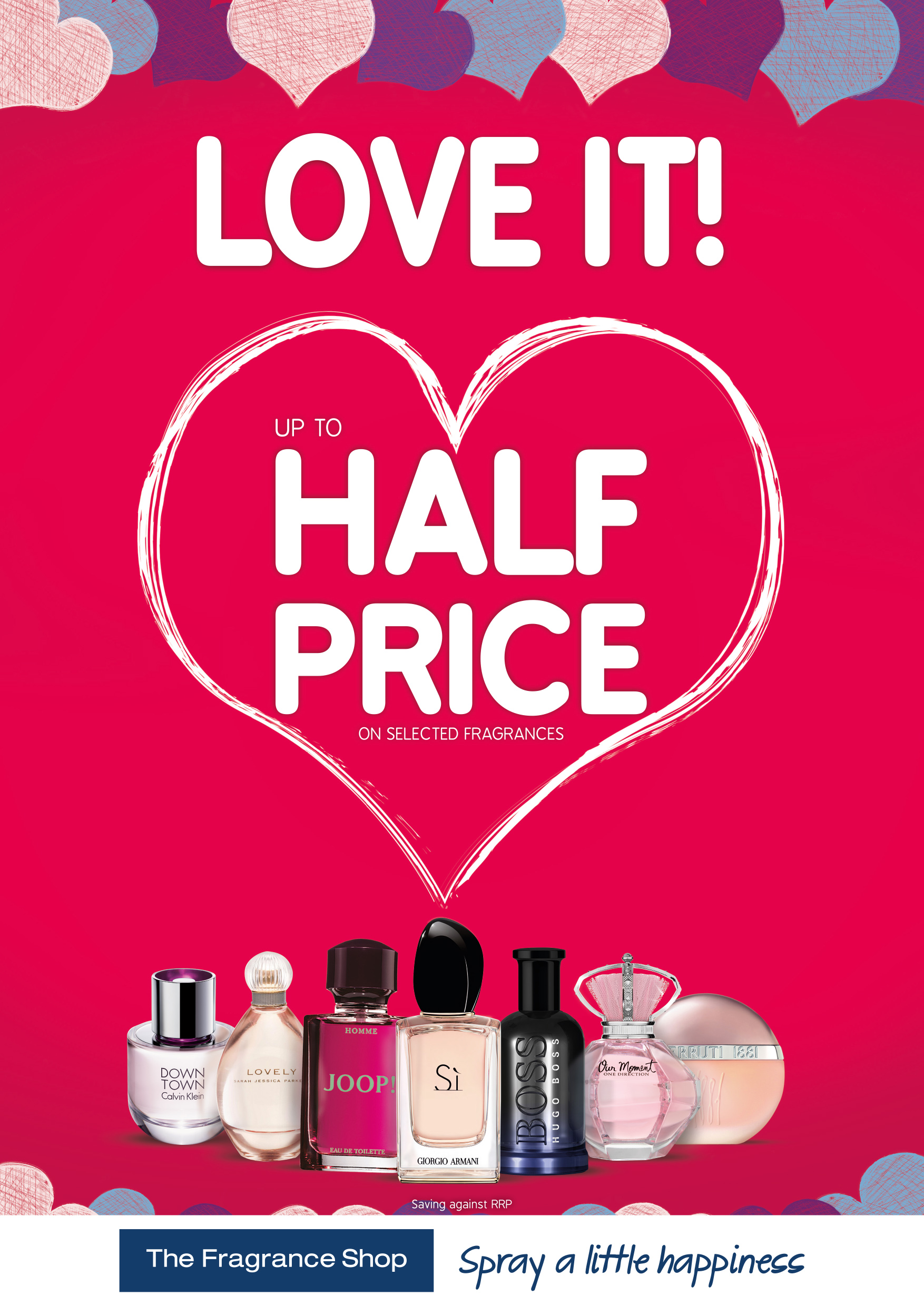 From Monday 3rd February – Valentine's at The Fragrance Shop – Love It