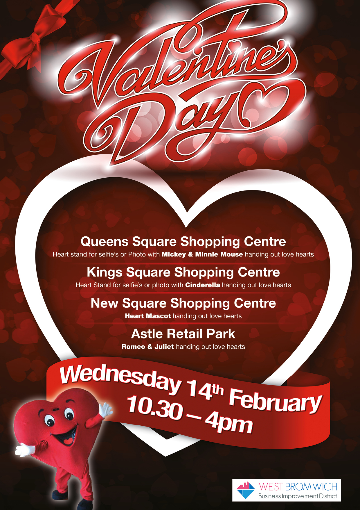 Valentine Day event in West Bromwich Town Centre
