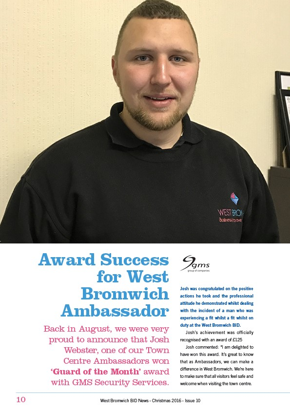 "West Bromwich Town Ambassador ""Guard of the Month"""