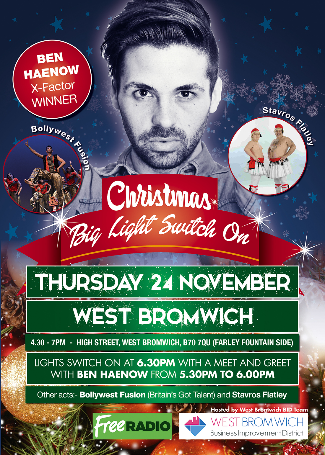 Christmas Light Switch on event tomorrow