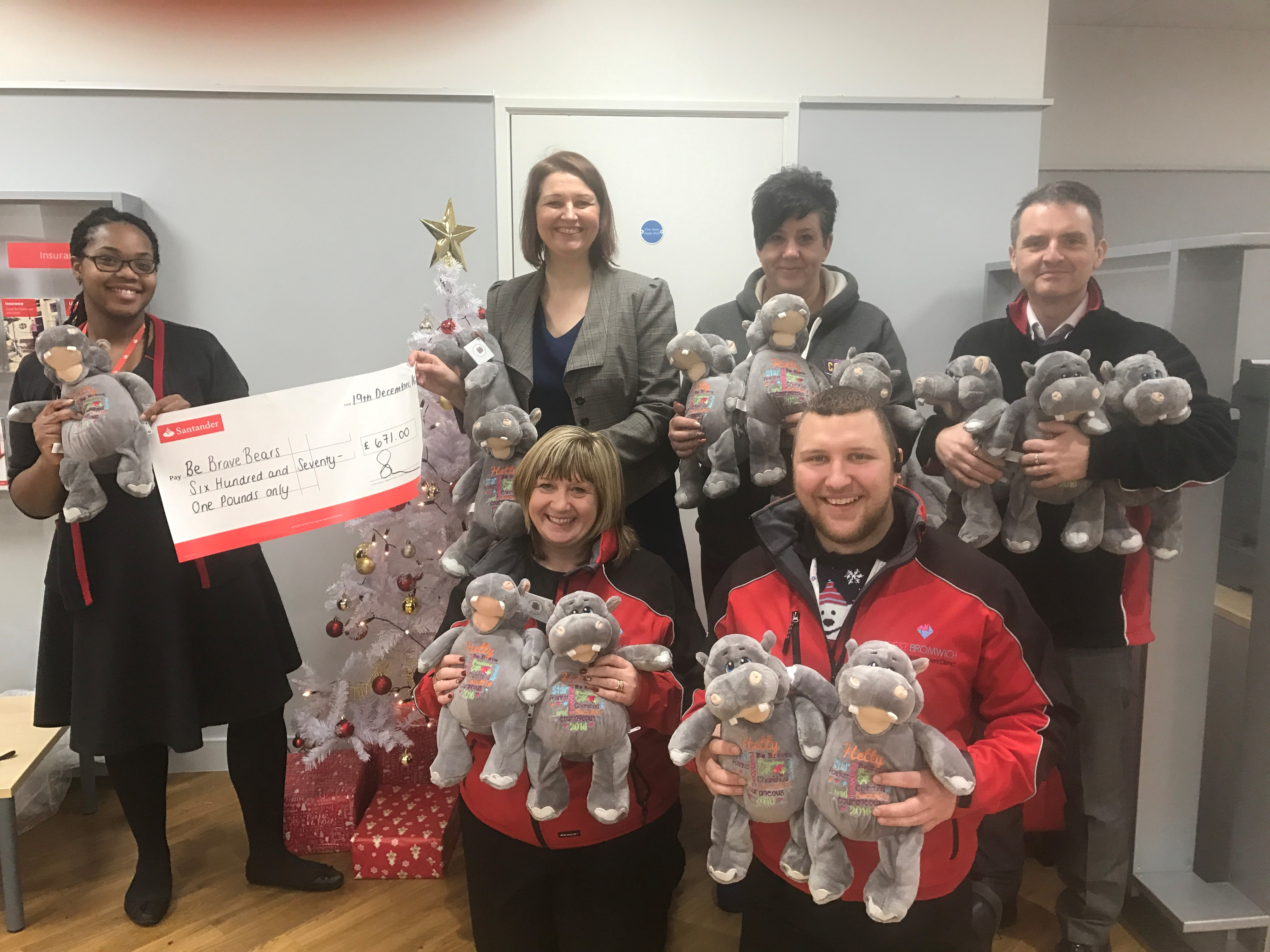 West Bromwich Town BID working with Be Brave Bears charity