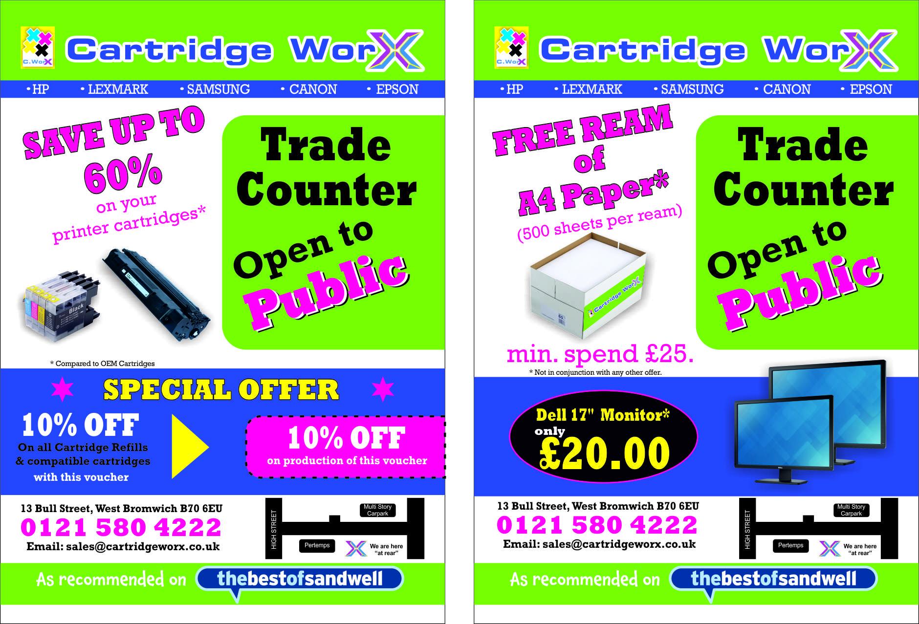 Get 10% off in Cartridge Worx, West Bromwich