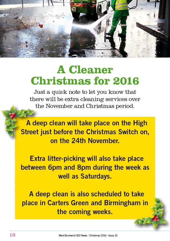A Cleaner Christmas for 2016 in West Bromwich