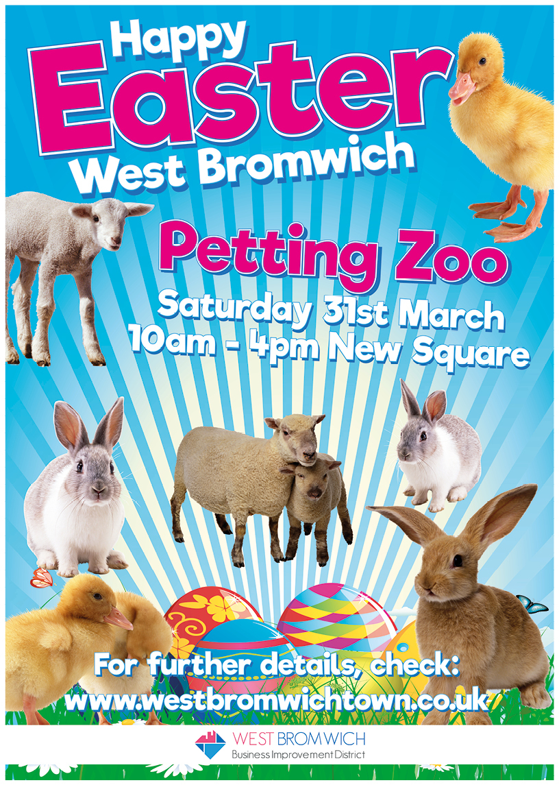 Easter Petting Zoo in West Bromwich on 31st March 2018
