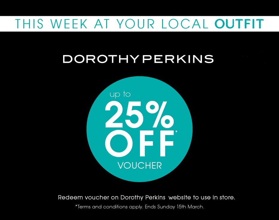 25% off in Dorothy Perkins – Outfit, New Square Shopping Centre, West Bromwich