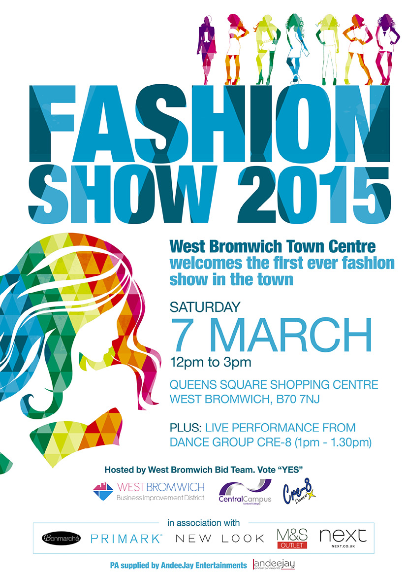 West Bromwich Fashion Show 7th March 2015 **An event not to miss**