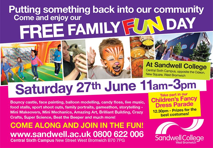 """""""FREE"""" Family Fun Day Saturday 27th June 2015"""