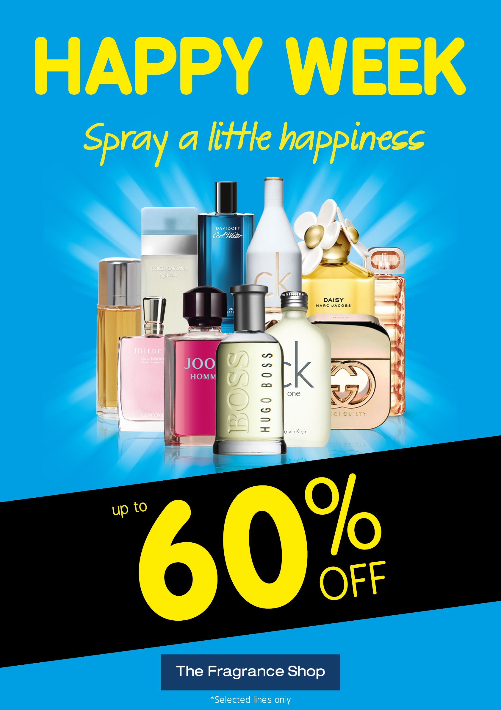 The Fragrance Shop with up to 60% off during Happy Week