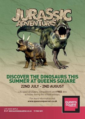 Jurassic Adventures comes to Queens Square Shopping Centre, West Bromwich **SOON**