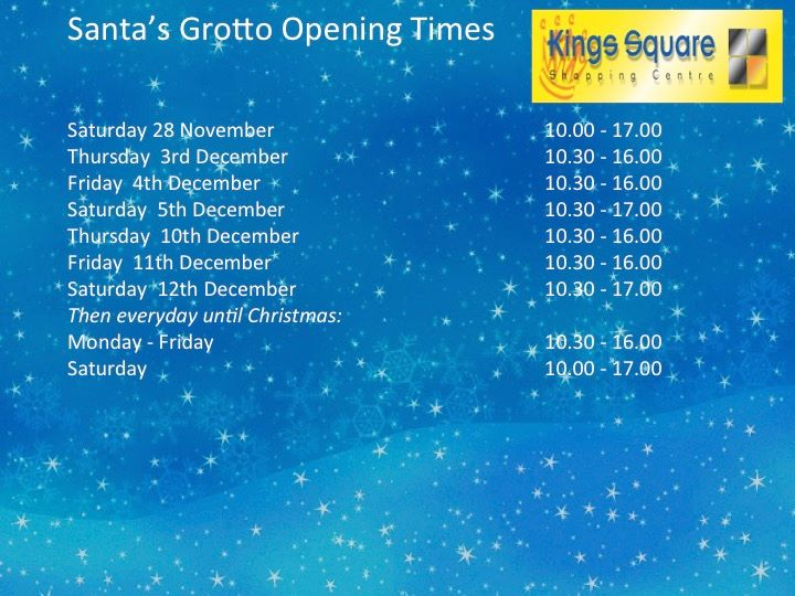 Christmas Grotto in Kings Square Shopping Centre
