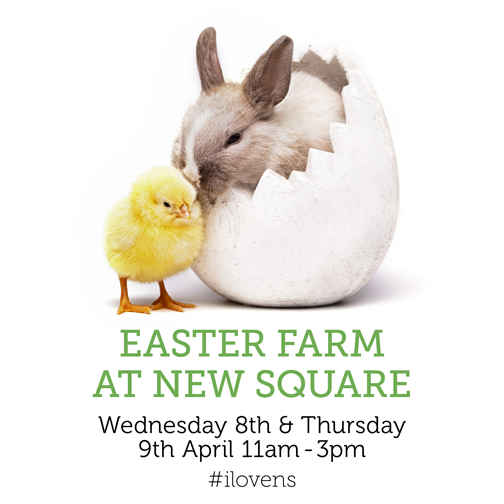 New Square, West Bromwich Celebrates Easter with Farmyard Fun