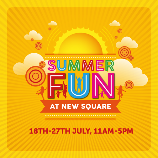 Life's a beach at New Square Shopping Centre from 18th July 2015 to 27th July 2015