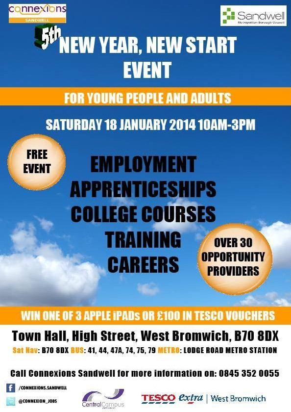 Connexions Sandwell Event – Saturday 18th January 2014