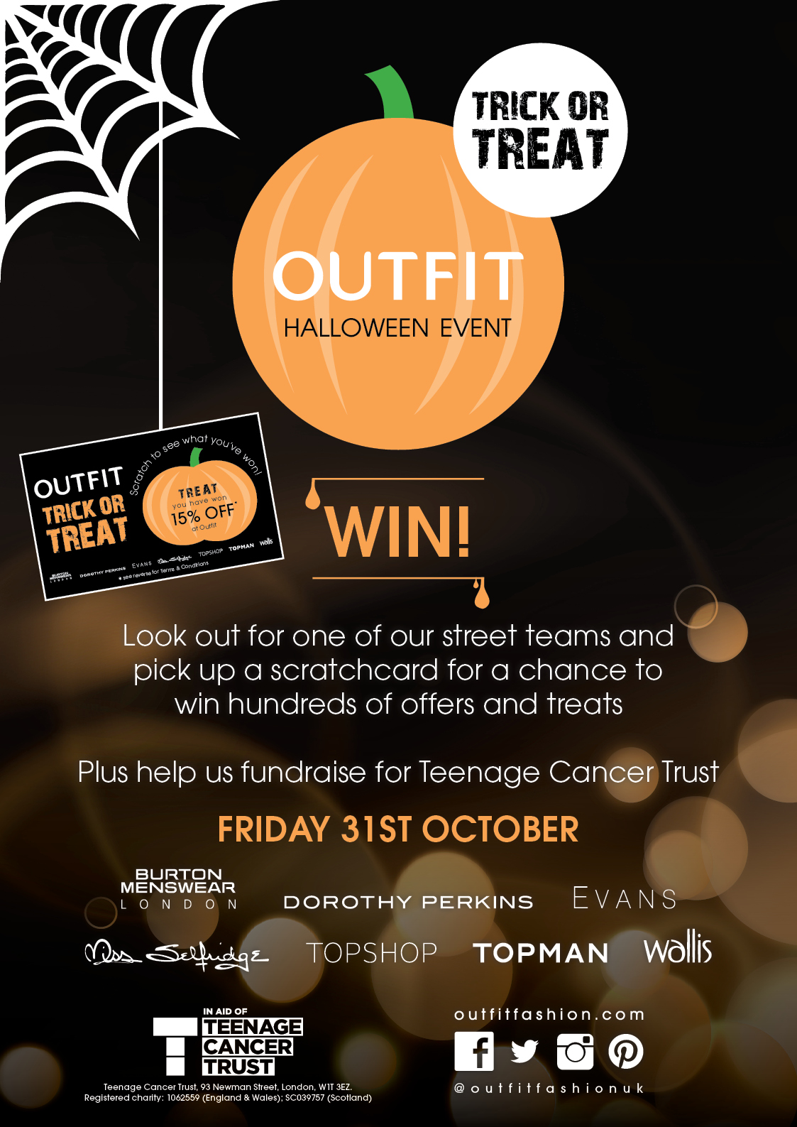 'Trick or Treat' Event on the 31st October 2014 in Outfit, New Square Shopping Centre
