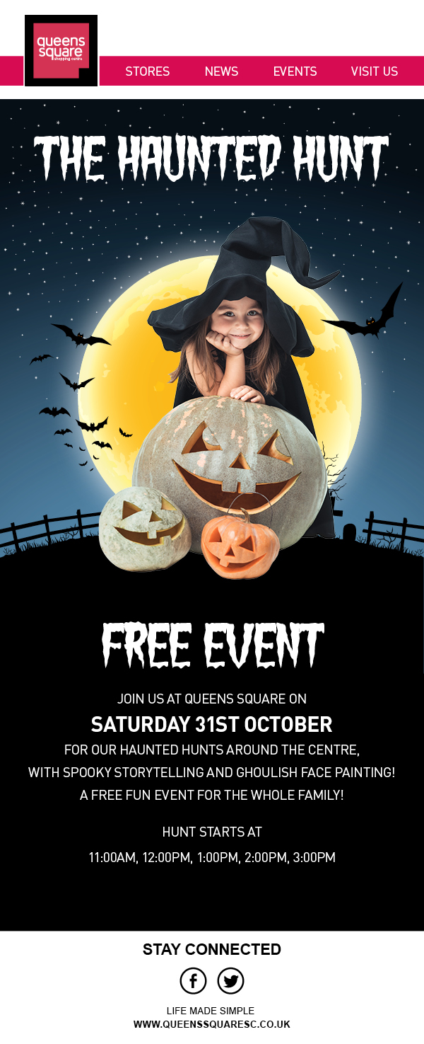 Calling all mini monsters !!! Halloween in Queens Square Shopping Centre