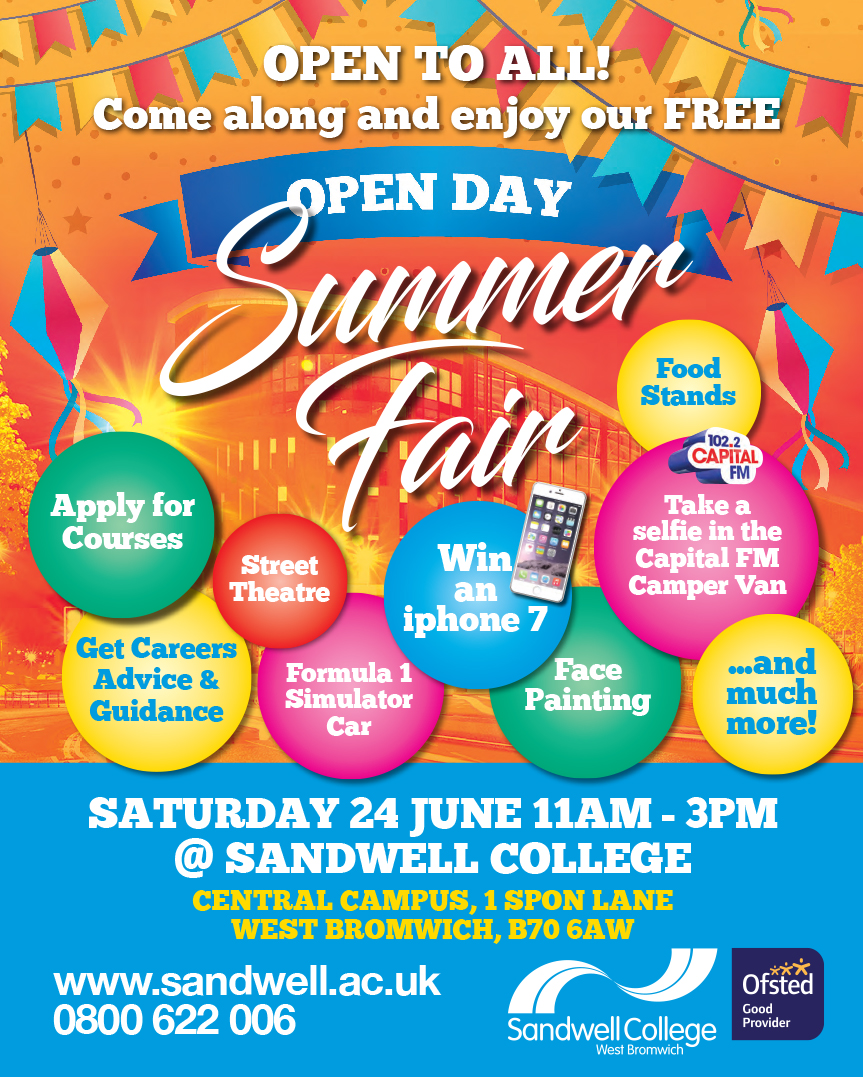 Summer Fair at Sandwell College on 24th June 2017