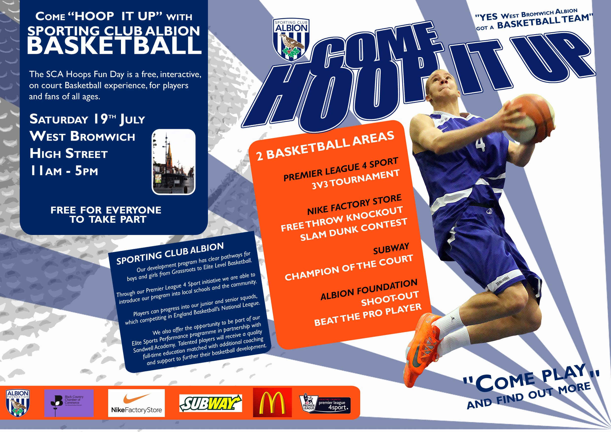 **CANCELLED due to weather** West Bromwich Albion Foundation Bastketball Event 19/7