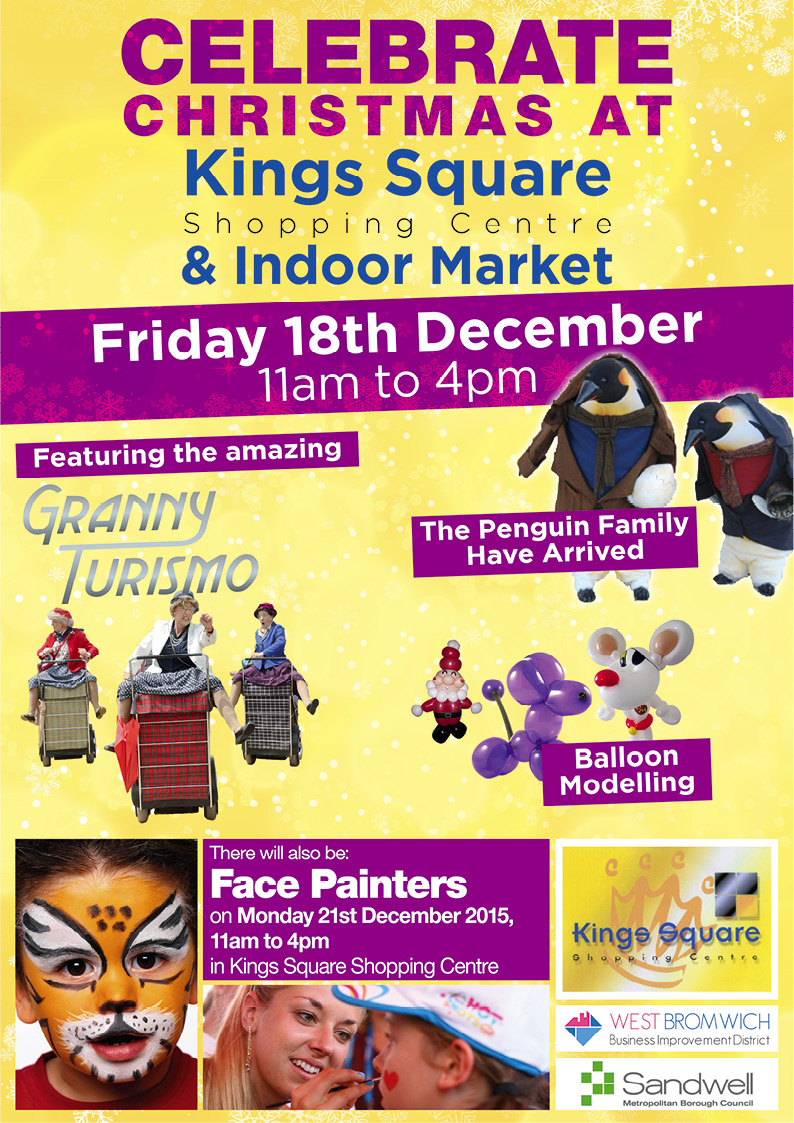 Kings Square Shopping Centre and Indoor Market – Free entertainment from 11am