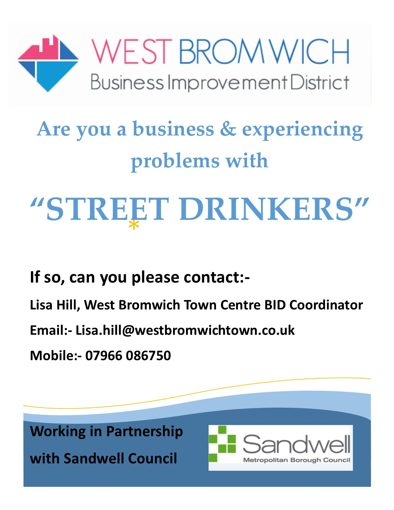 Are you a business & experiencing problems with Street Drinkers ??