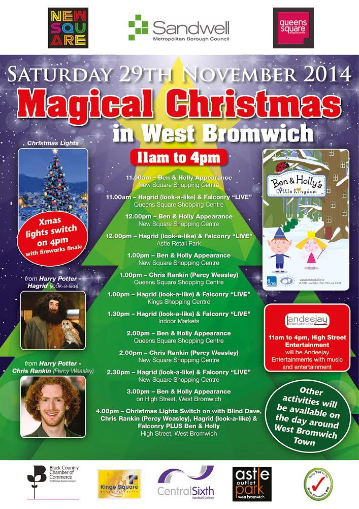**DONT FORGET** Magical Christmas in West Bromwich – Saturday 29th November 2014