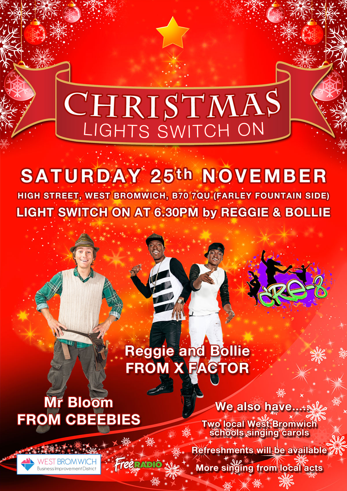 West Bromwich Town Christmas Lights 2017