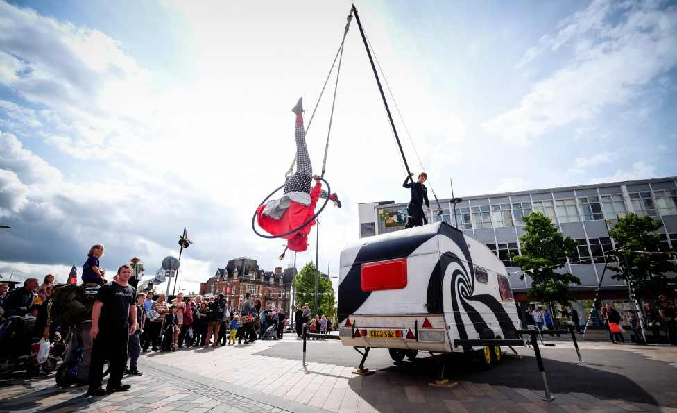 Dont Forget to come to New Square Shopping Centre this weekend for No Fit State Circus