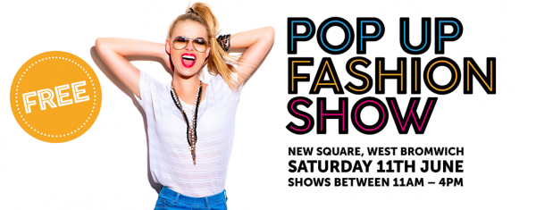 Pop-Up Fashion Show in New Square Shopping Centre, West Bromwich
