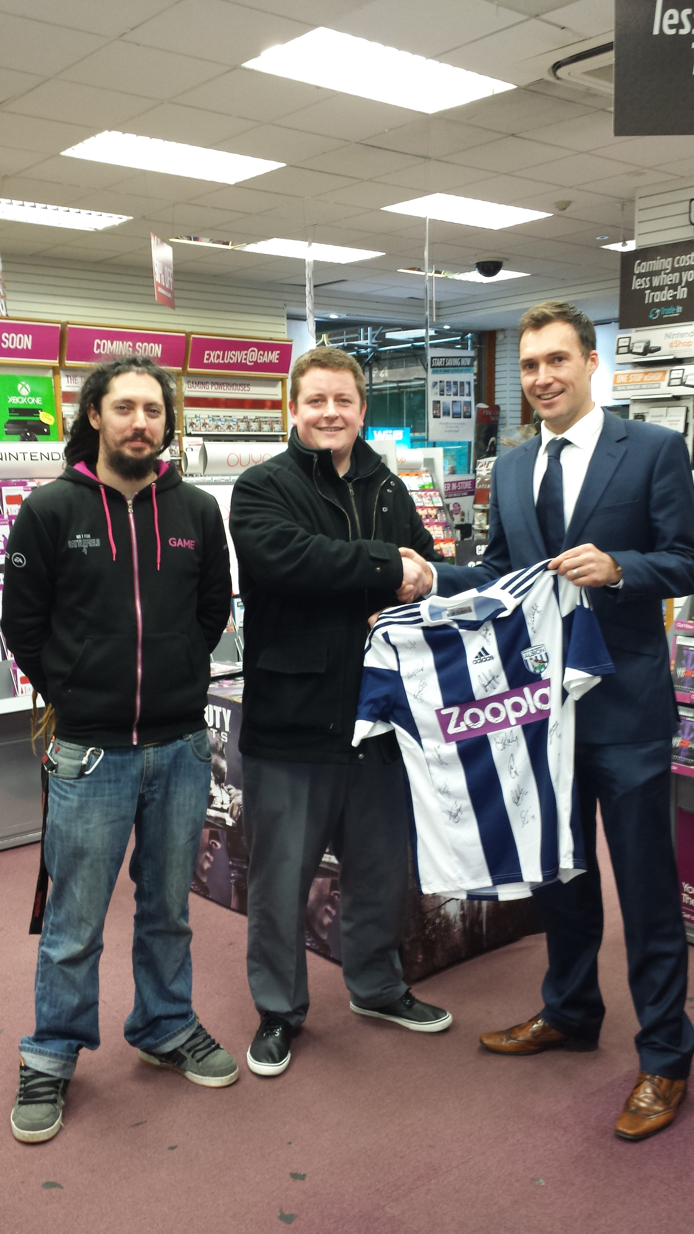 WINNER of the signed West Bromwich Albion Football Shirt