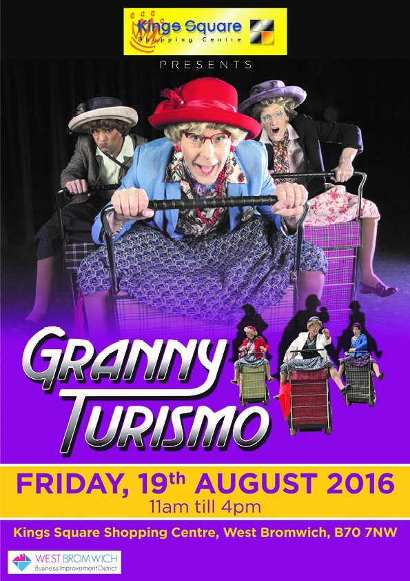 Granny Turismo's are coming to Kings Square Shopping Centre