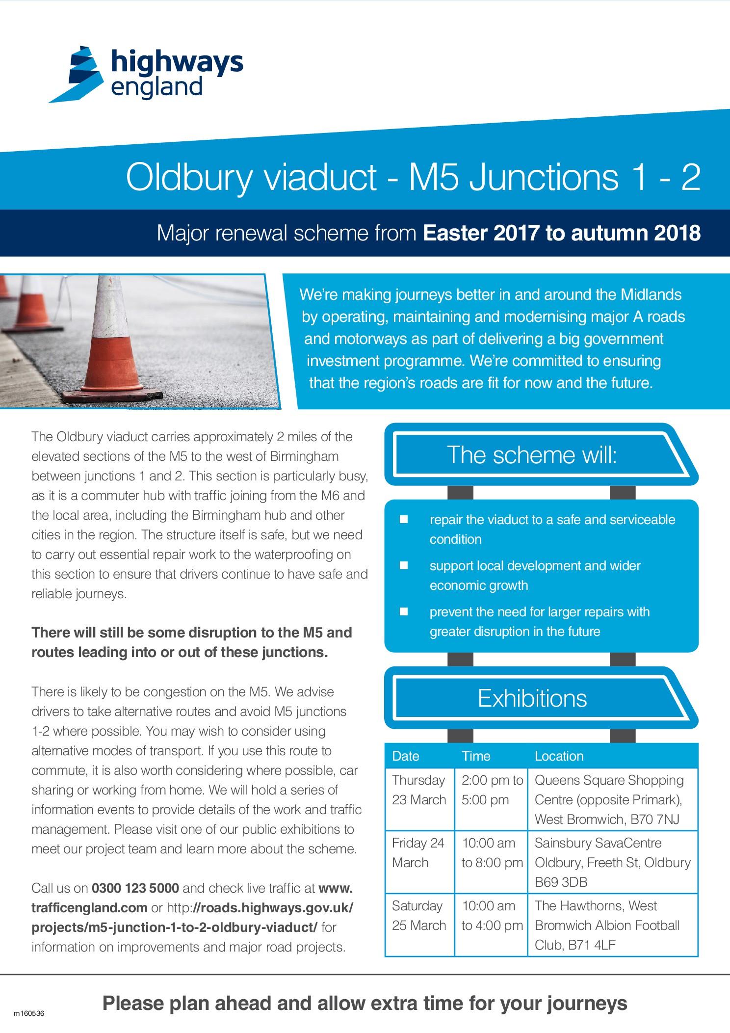 Oldbury Viaduct M5 Junctions 1 to 2 – Major Renewal Scheme