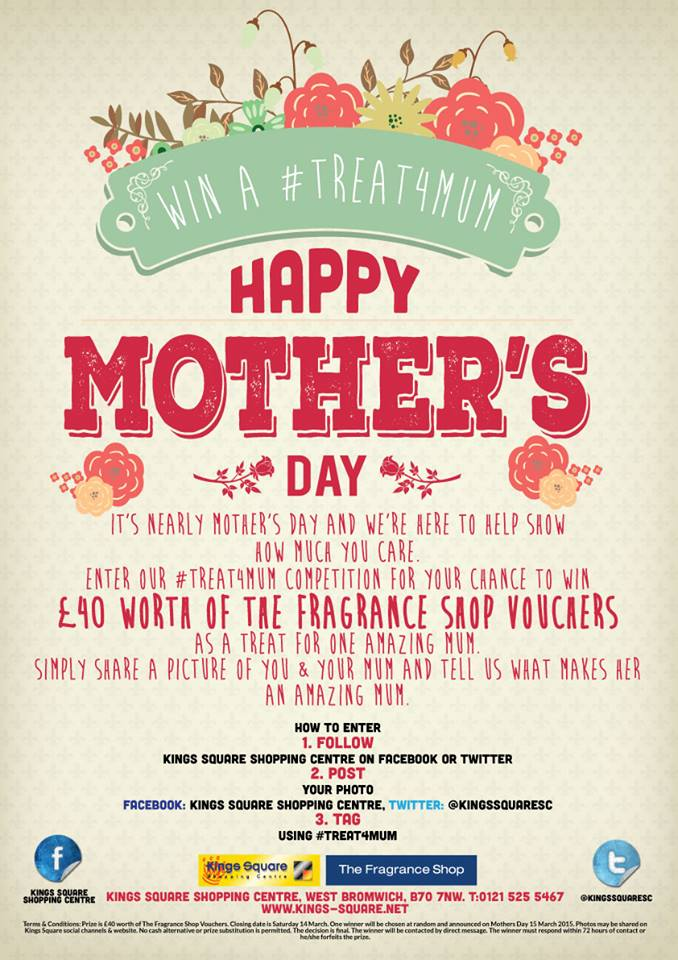 Happy Mothers Day Competition from the Kings Square Shopping Centre