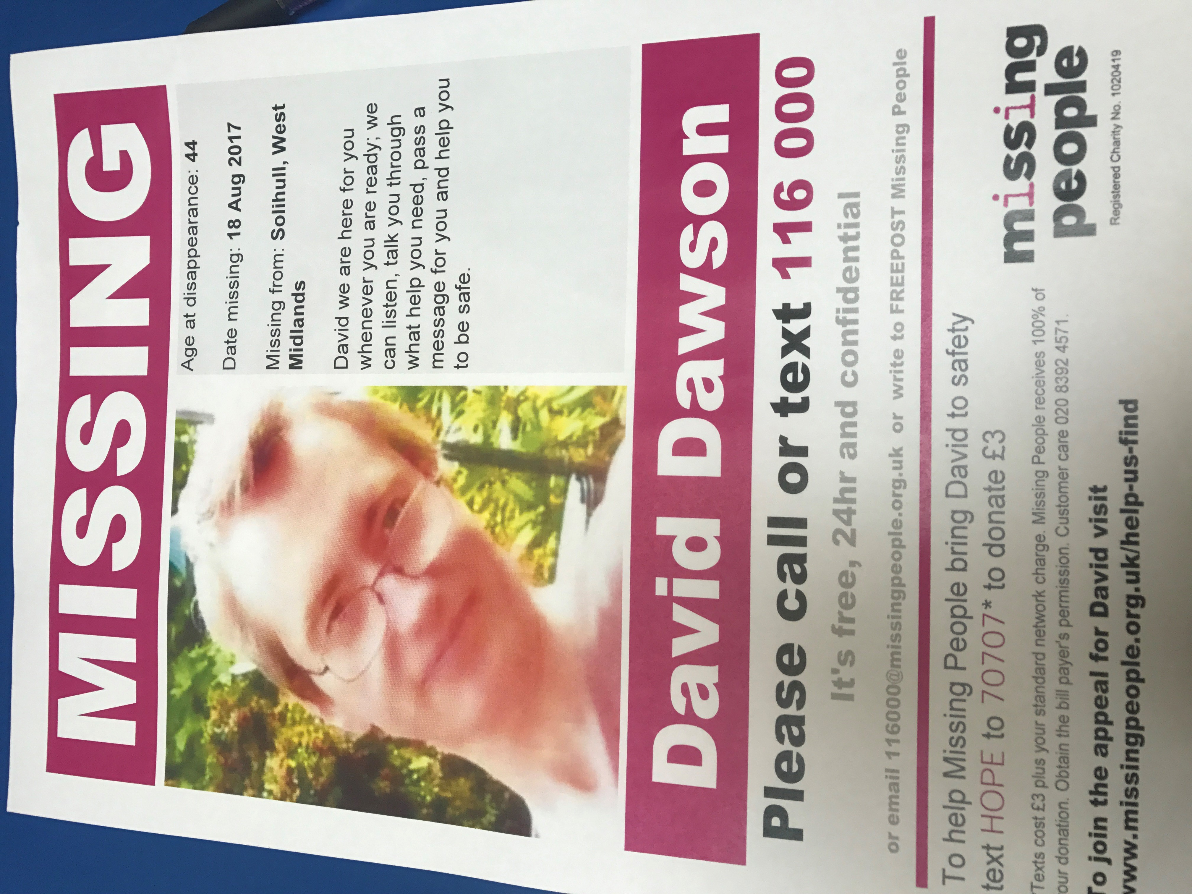 Missing – David Dawson