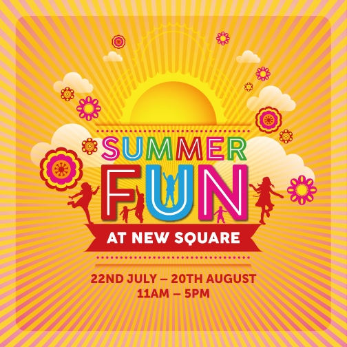 Summer Fun in New Square Shopping Centre – The Beach is back !!!