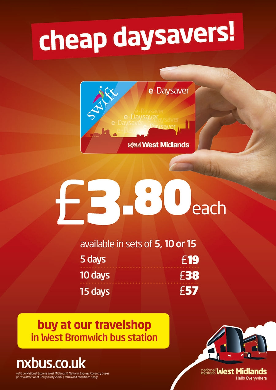 Cheap Day Savers with National Express