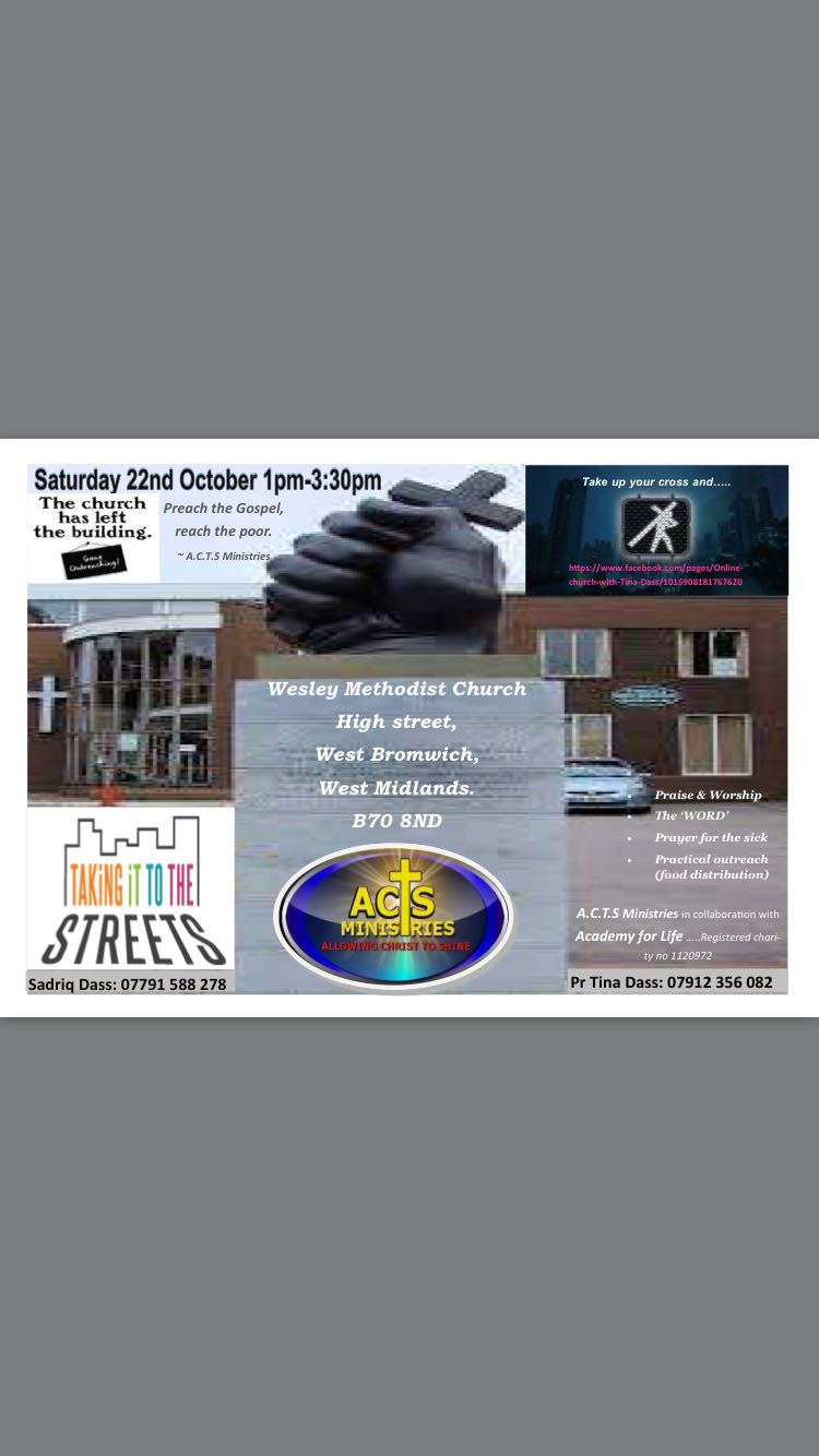 Community outreach event on Saturday 22/10/2016