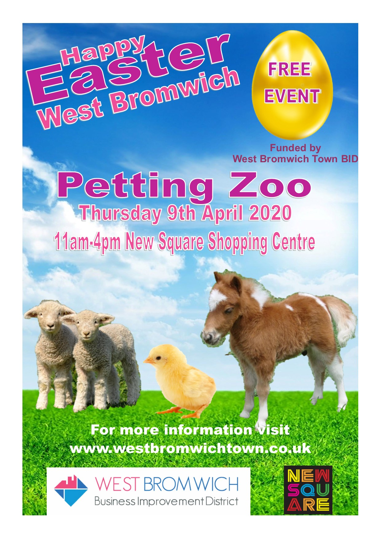 Easter Petting Zoo – 9th April 2020