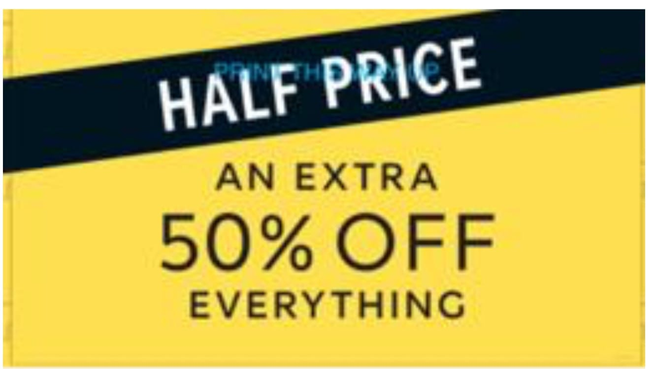 50% off EVERYTHING at M&S Outlet, Astle Park