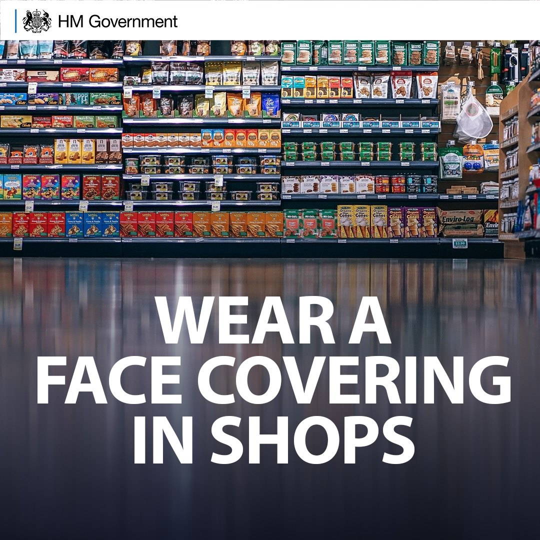 Face Masks in Shops – Mandatory from 24/07/2020