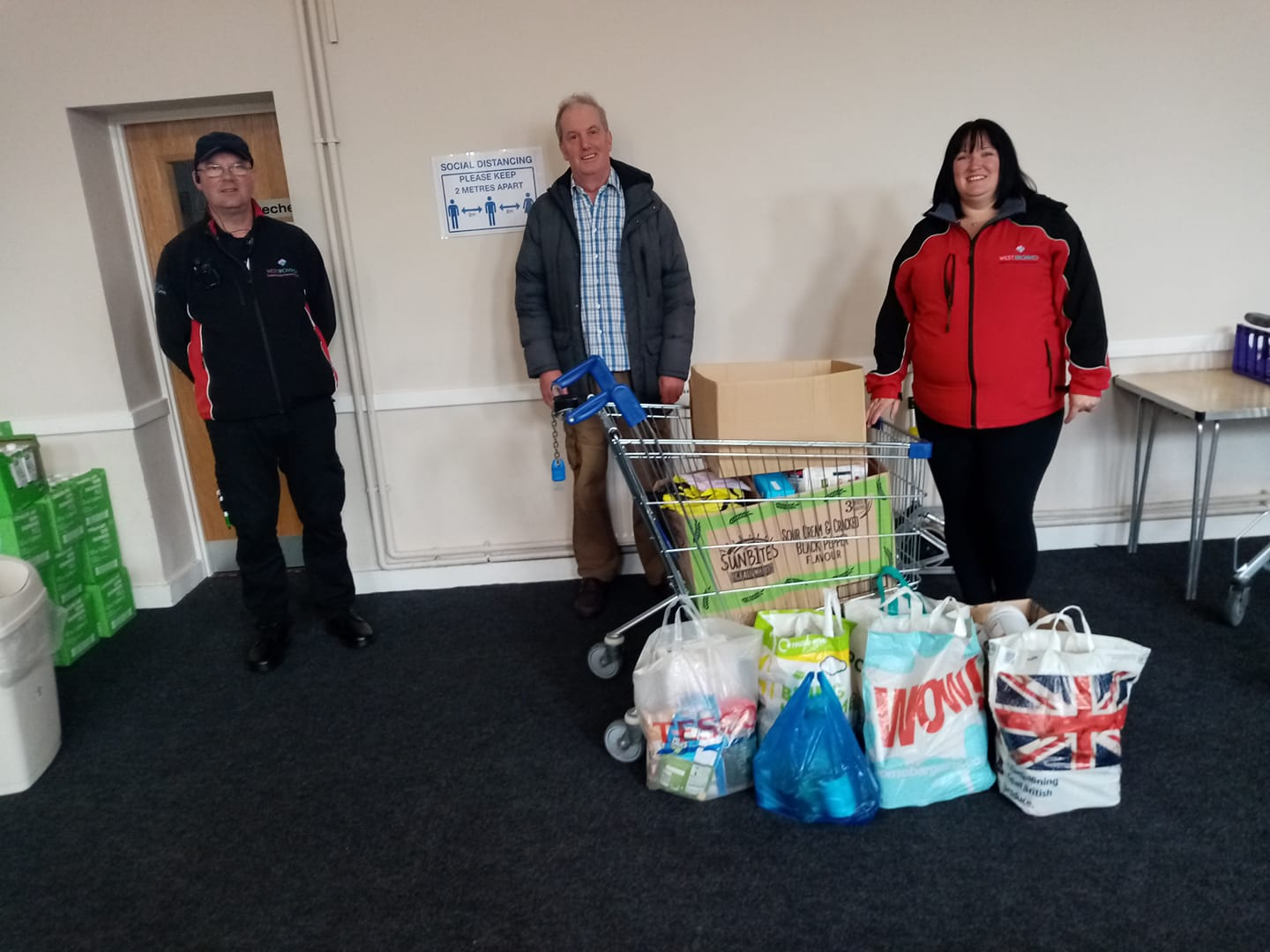 Food Bank Donations from The West Brom Building Society