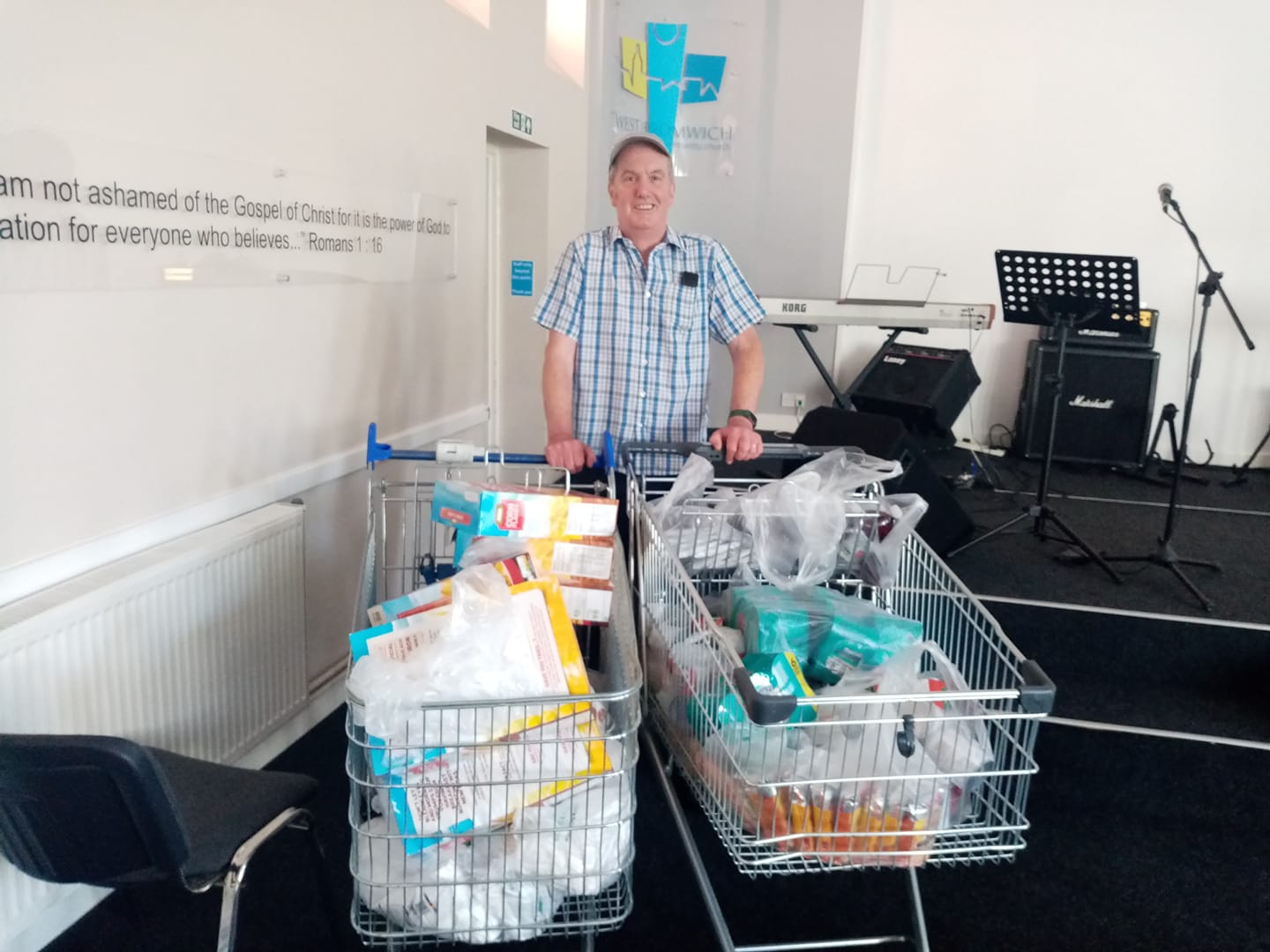A Big Food Shop for West Bromwich Food Bank – First Delivery!!