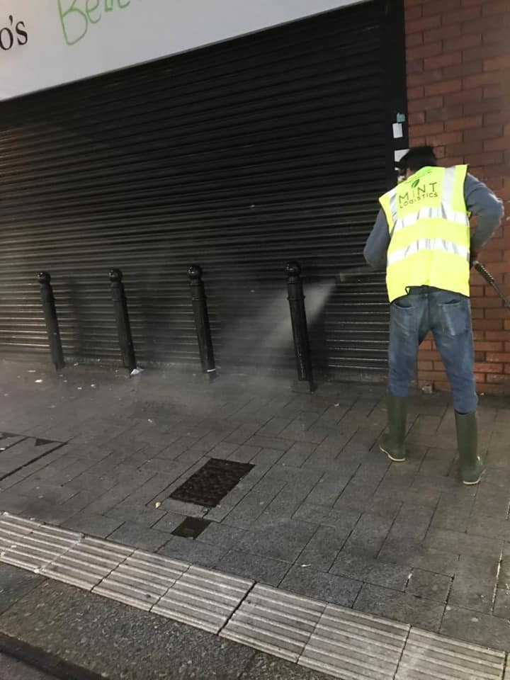Keeping West Bromwich Town Streets Clean – Intense Jetwashing