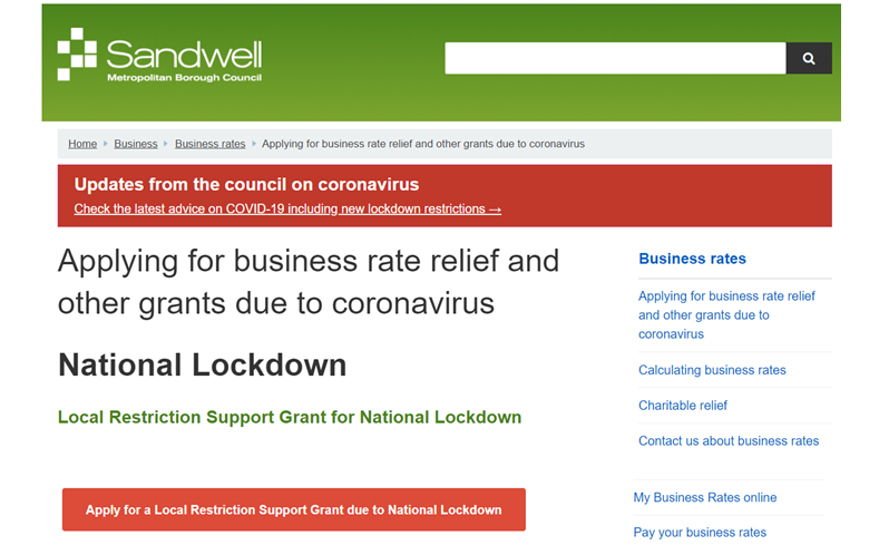 West Bromwich Town BID – Supporting Businesses through Lockdown 2
