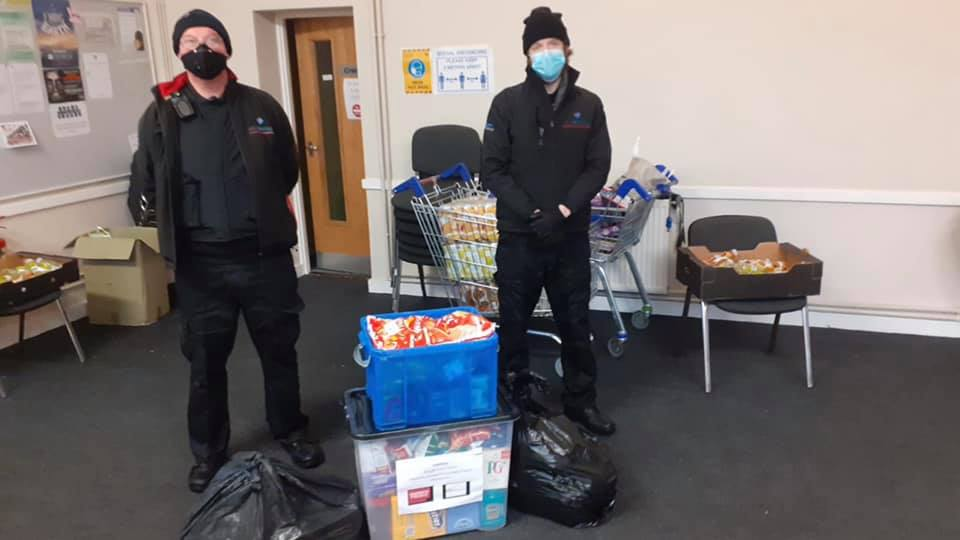 Food Bank Donation from Queens Square Shopping Centre
