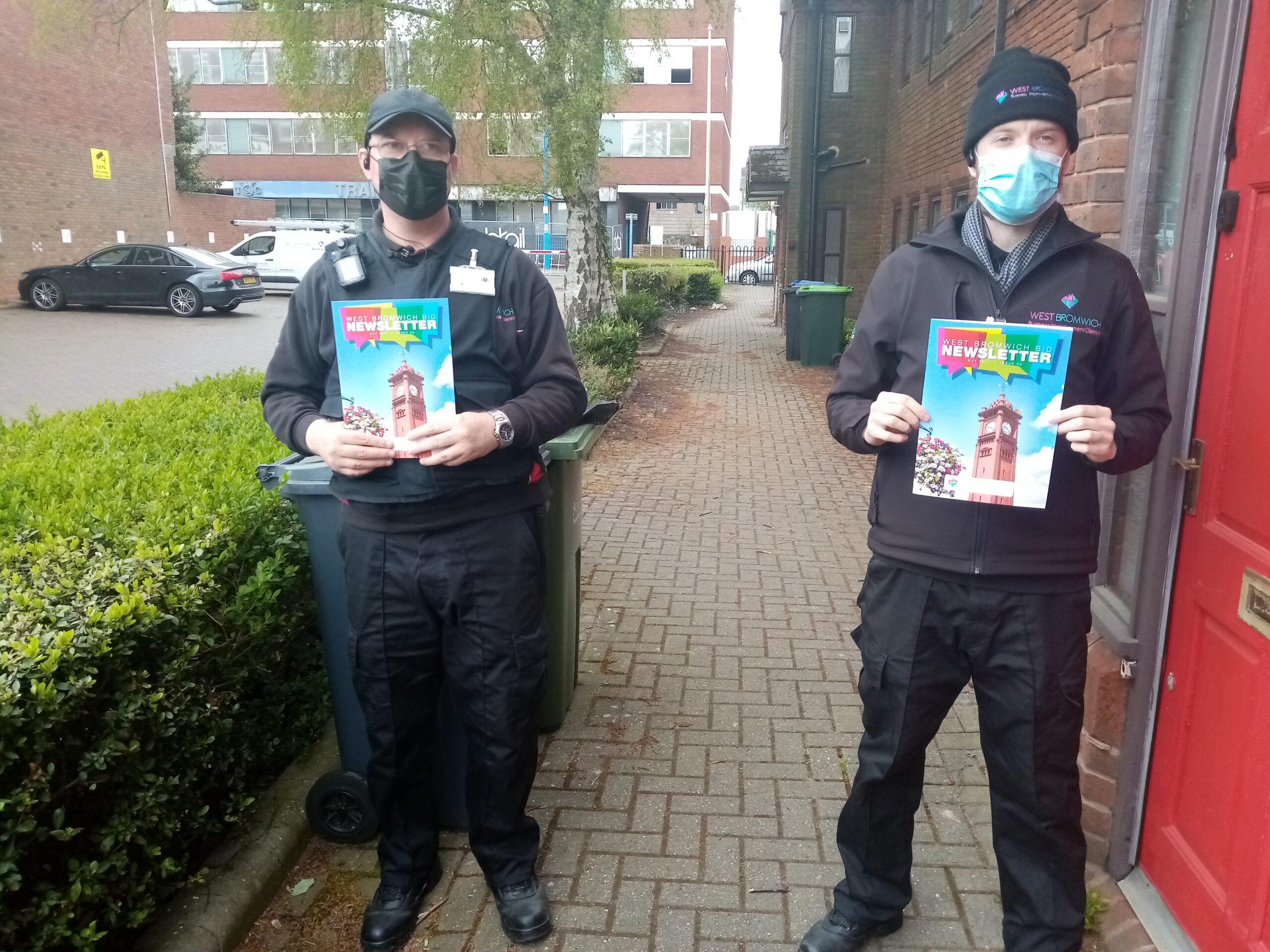 Town Ambassadors Delivering BID Newsletters